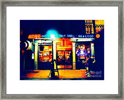 Acme Oyster Shop New Orleans Framed Print by John Malone