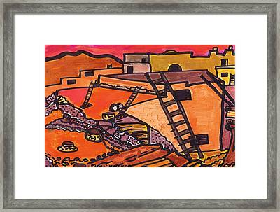 Framed Print featuring the drawing Acoma  by Don Koester