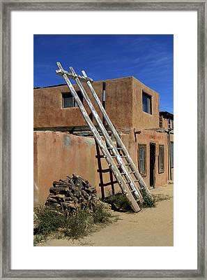 Acoma Pueblo Adobe Homes 3 Framed Print by Mike McGlothlen