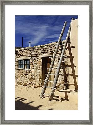 Acoma Pueblo Adobe Homes 4 Framed Print by Mike McGlothlen
