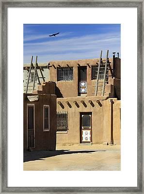 Acoma Pueblo Adobe Homes Framed Print by Mike McGlothlen