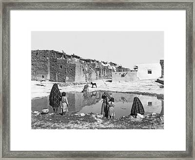 Acoma Pueblo Framed Print by Underwood Archives