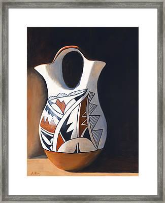 Acoma Wedding Vase Framed Print by Jack Atkins