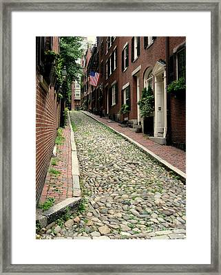 Acorn Street Boston Framed Print by Kenny Glotfelty