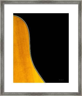 Acoustic Curve In Black Framed Print by Bob Orsillo