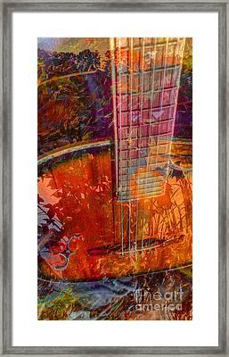 Acoustic Dreams Digital Guitar Art By Steven Langston Framed Print by Steven Lebron Langston