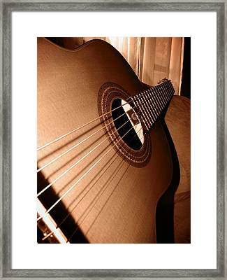 Acoustic Guitar Framed Print by Ester  Rogers
