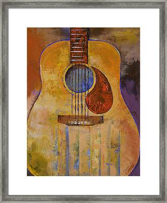 Acoustic Guitar Framed Print by Michael Creese