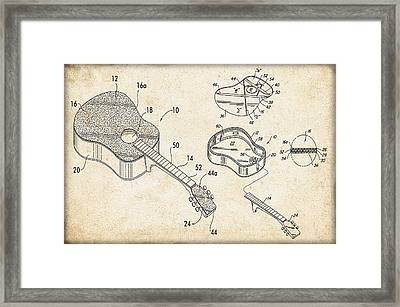 Acoustic Guitar Patent Framed Print by Bill Cannon