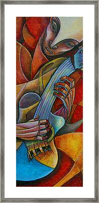 Acoustic Heat Framed Print by Roy Guzman