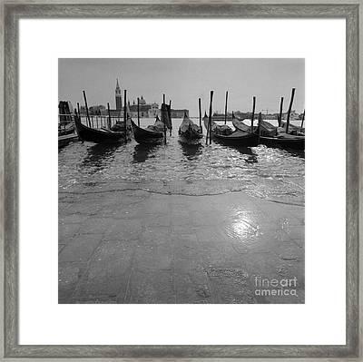 Acqua Alta A Venezia Framed Print by Riccardo Mottola