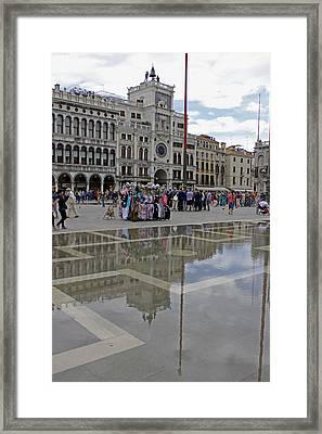 Acqua Alta St Marks Square Framed Print by Tony Murtagh