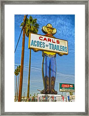 Acres Of Trailers 2 Framed Print by Gregory Dyer