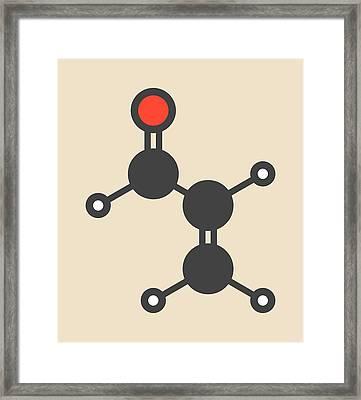 Acrolein Molecule Framed Print by Molekuul