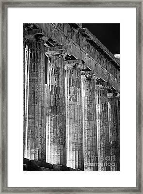Acropolis Columns Framed Print