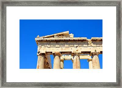 Acropolis Detail Framed Print by Corinne Rhode