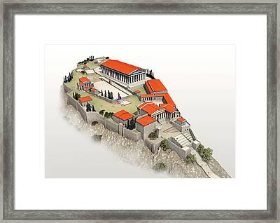Acropolis Framed Print by Jose Antonio Pe�as