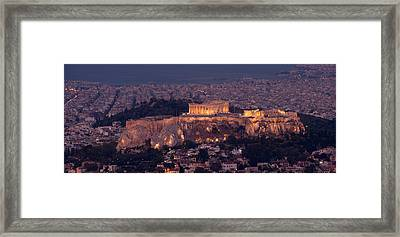 Acropolis Of Athens, Athens, Attica Framed Print by Panoramic Images