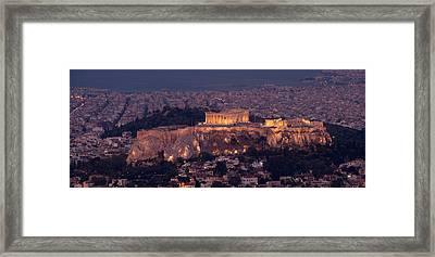 Acropolis Of Athens, Athens, Attica Framed Print