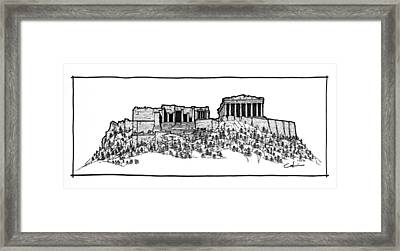 Framed Print featuring the drawing Acropolis Of Athens by Calvin Durham