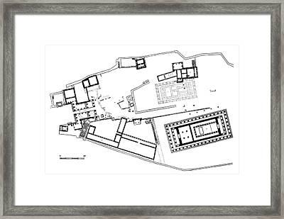 Acropolis Plan Framed Print by Granger