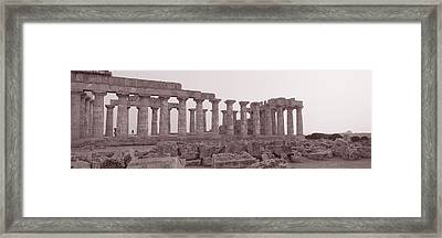 Acropolis Selinunte Archeological Park Framed Print by Panoramic Images