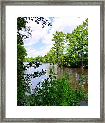 Framed Print featuring the photograph Across Crystal Lake by Jim Whalen