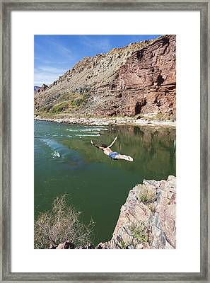 Across Deer Creek Camp, Grand Canyon Framed Print