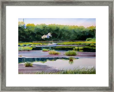 Across Duck Creek Framed Print by Karol Wyckoff
