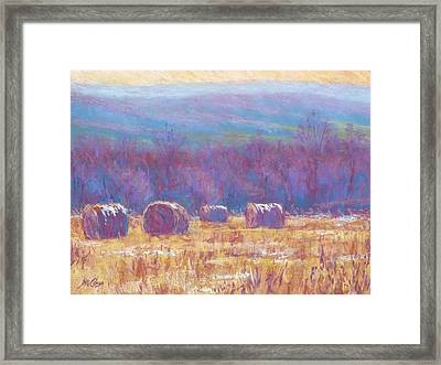 Across Dunn Valley Framed Print by Michael Camp