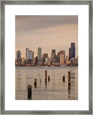 Across Elliott Bay Framed Print