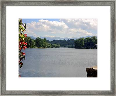 Across Lake Junaluska Framed Print