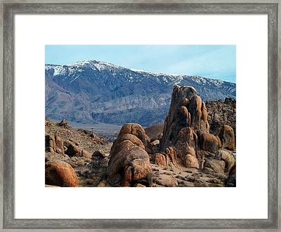 Across Owens Valley - U.s. Highway 395 Framed Print