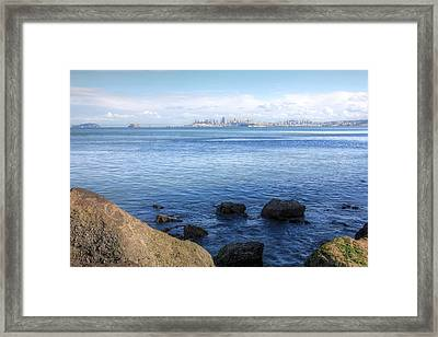 Across The Bay Framed Print by JC Findley