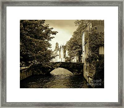 Across The Bridge Framed Print