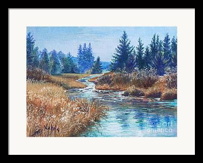 Beautiful Creek Drawings Framed Prints