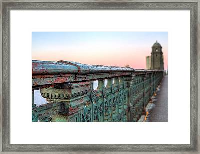 Across The Charles  Framed Print