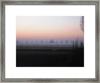 Across The Fen Framed Print by Michelle Deyna-Hayward