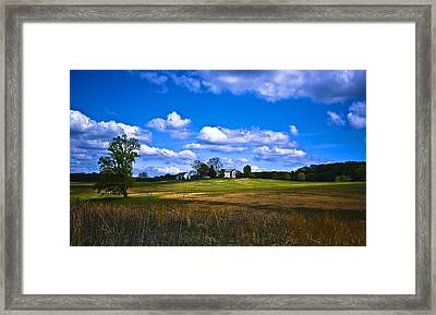 Across The Field Framed Print by Samantha Eisenhauer