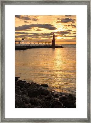Across The Harbor Framed Print by Bill Pevlor