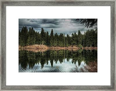 Across The Lake Framed Print by Belinda Greb