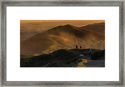 Across The Malverns At Sunset Framed Print by Chris Fletcher