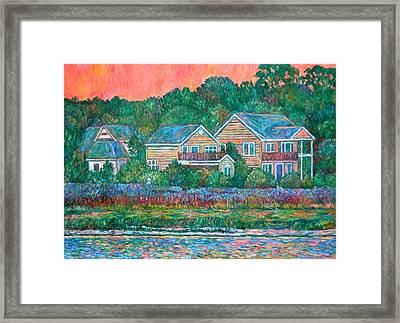 Framed Print featuring the painting Across The Marsh At Pawleys Island       by Kendall Kessler