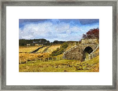 Across The Old Railway - Phot Art Framed Print