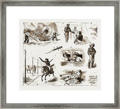 Across The Plains To California By The New Route, U.s.a Framed Print