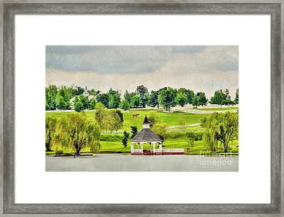 Across The Pond Framed Print