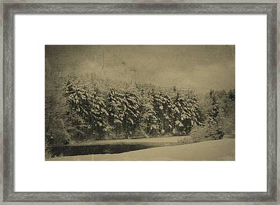 Across The Pond Framed Print by Kathy Jennings