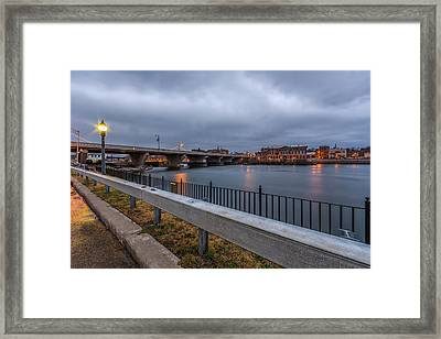 Across The River Framed Print by Everet Regal