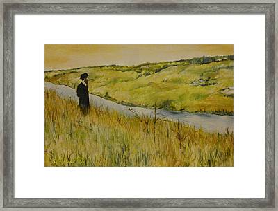 Across The River Framed Print by Miriam Shaw