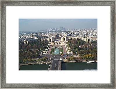 Framed Print featuring the photograph Across The Seine by Barbara McDevitt